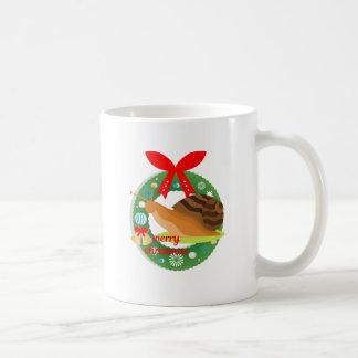 merry christmas snail coffee mug