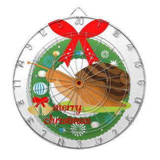 merry christmas snail dartboard