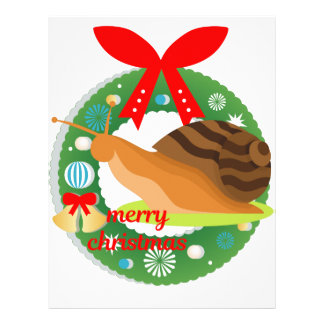 merry christmas snail letterhead