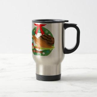 merry christmas snail travel mug