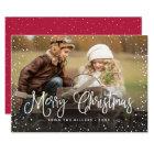 Merry Christmas Snow Card