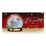 Merry Christmas Snow Globe Customizable 6 Picture Card
