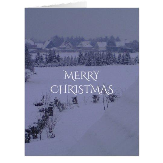 Merry Christmas Snow Landscape Winter Card