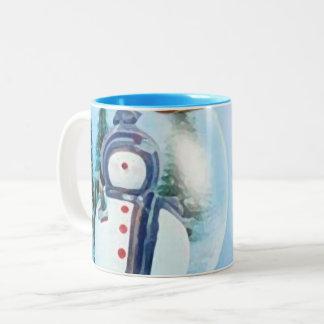 Merry Christmas Snow_mug Two-Tone Coffee Mug