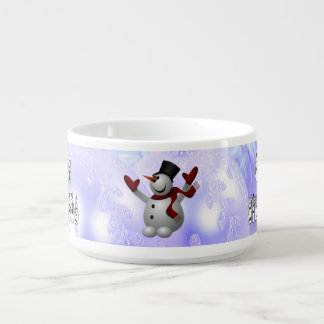 Merry Christmas Snow People Font, Blue Tint Snow Bowl