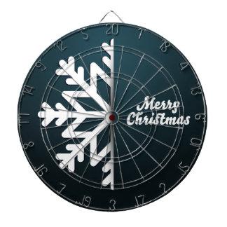 Merry Christmas Snowflake Blue Dart Board