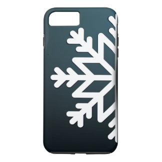 Merry Christmas Snowflake Blue iPhone 7 Plus Case