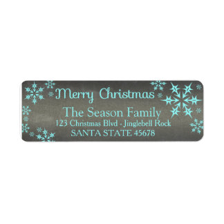 Merry Christmas snowflake Holiday Address Label