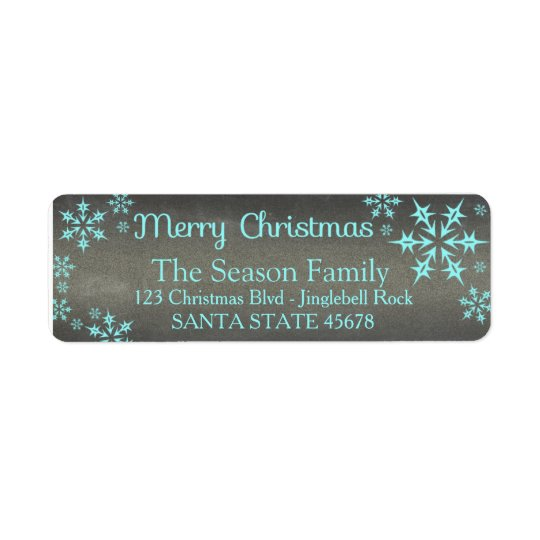 Merry Christmas snowflake Holiday Address Label
