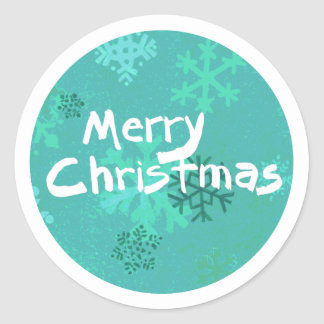 Merry Christmas snowflake sticker