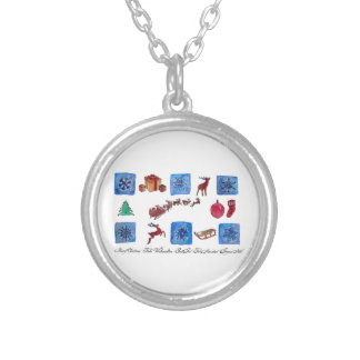 Merry Christmas Snowflakes and Wintertime Silver Plated Necklace