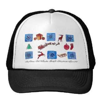 Merry Christmas Snowflakes and Wintertime Trucker Hat