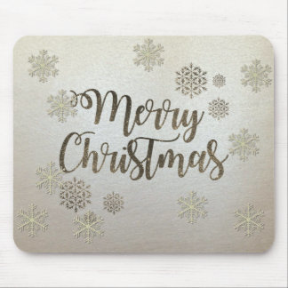 Merry Christmas,Snowflakes Mouse Pad