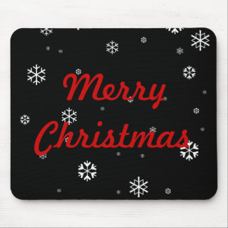 Merry Christmas Snowflakes Mouse Pad