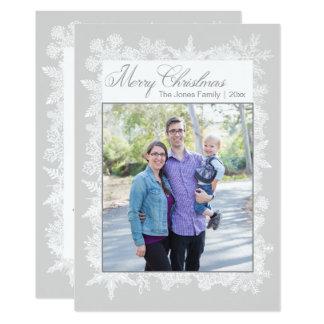 Merry Christmas Snowflakes Photo Card
