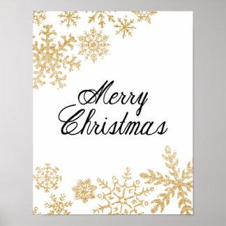 Merry Christmas - Snowflakes - Poster