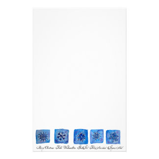 Merry Christmas Snowflakes Stationery
