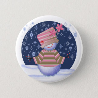 Merry Christmas  Snowman 2 Inch Round Button