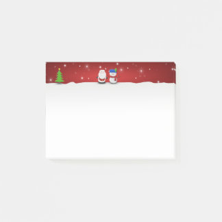 Merry Christmas Snowman and Santa - Post-it® Notes