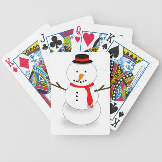 Merry Christmas Snowman Bicycle Playing Cards