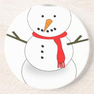 Merry Christmas Snowman Coaster