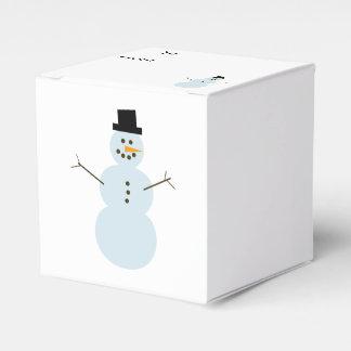 Merry Christmas Snowman Favor Box