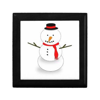 Merry Christmas Snowman Gift Box