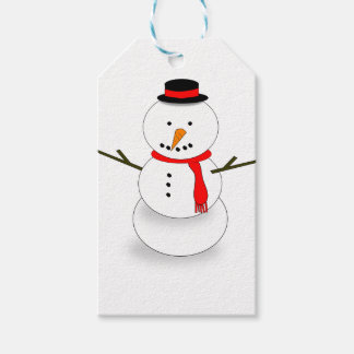 Merry Christmas Snowman Gift Tags