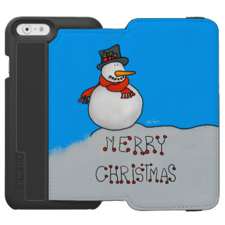 Merry Christmas Snowman Incipio Watson™ iPhone 6 Wallet Case