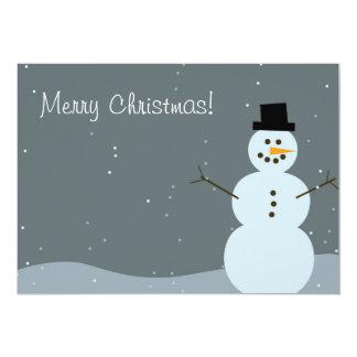Merry Christmas - Snowman Invitation
