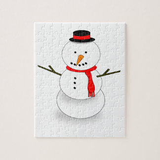 Merry Christmas Snowman Jigsaw Puzzle