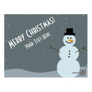 Merry Christmas - Snowman Postcard