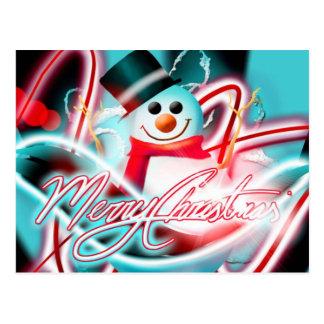 Merry Christmas snowman Postcard