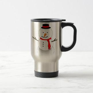 Merry Christmas Snowman Travel Mug