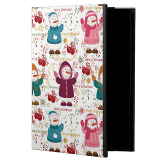 Merry Christmas Snowmen Case For iPad Air