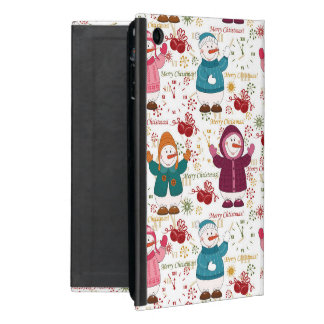 Merry Christmas Snowmen Case For iPad Mini
