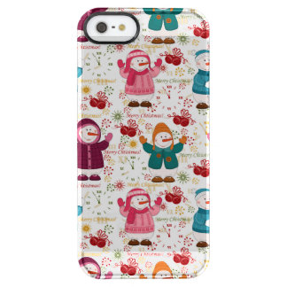 Merry Christmas Snowmen Clear iPhone SE/5/5s Case