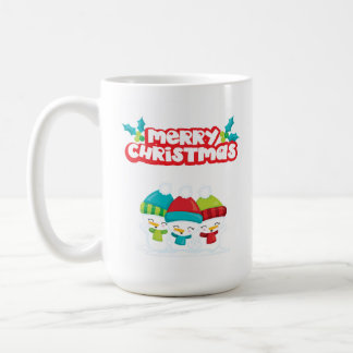 Merry Christmas Snowmen Coffee Mug