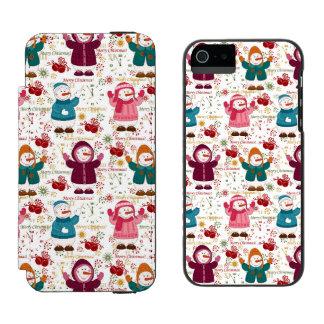 Merry Christmas Snowmen Incipio Watson™ iPhone 5 Wallet Case