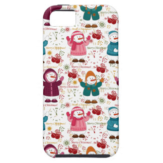 Merry Christmas Snowmen iPhone 5 Covers