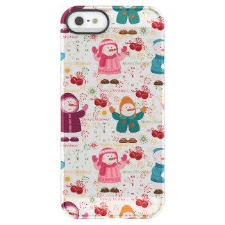 Merry Christmas Snowmen Permafrost® iPhone SE/5/5s Case