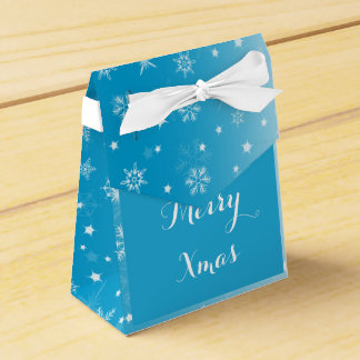 Merry Christmas Snowy Gift Box Wedding Favor Boxes