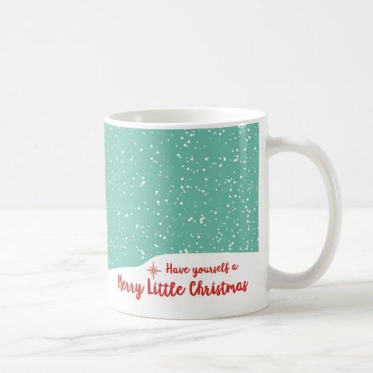 Merry Christmas Snowy Santa Penguin Mug Gift