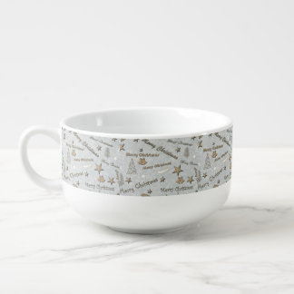 Merry Christmas Soup Bowl With Handle