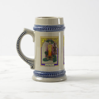 Merry Christmas, sparkly decoration 18 Oz Beer Stein