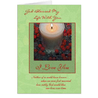 Merry Christmas Spouse Greeting Card