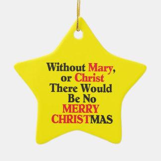 Merry Christmas Star Ornament