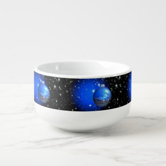 Merry Christmas starry skies Soup Mug