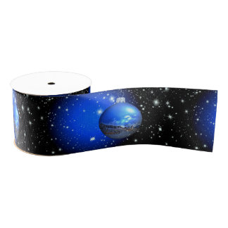merry christmas starry sky ornament grosgrain ribbon
