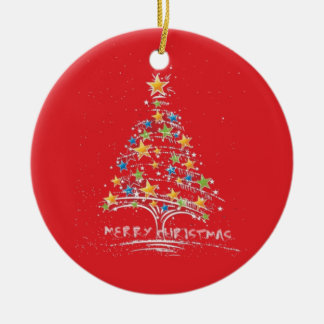 Merry Christmas Starry Tree Ornament